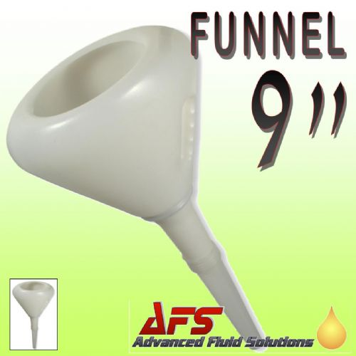 "9"" Plastic Funnel with Strainer & Flexible Spout"
